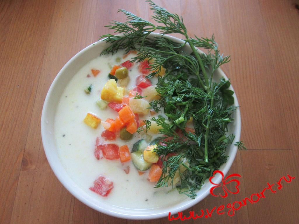 Вегетарианская окрошка