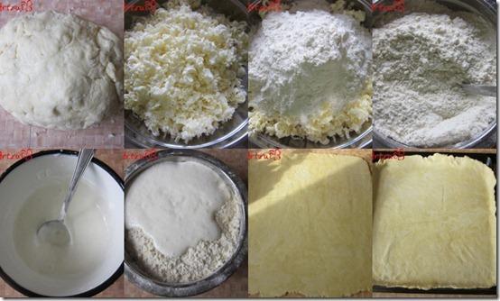 Тесто для пирогов-коллаж