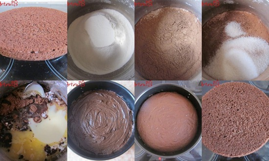 Шоколадный бисквит без яиц