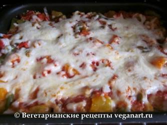 Вегетарианская лазанья готова