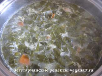 Готовый суп из щавеля