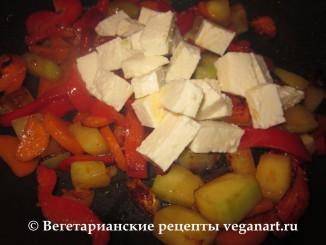 Адыгейский сыр с овощами