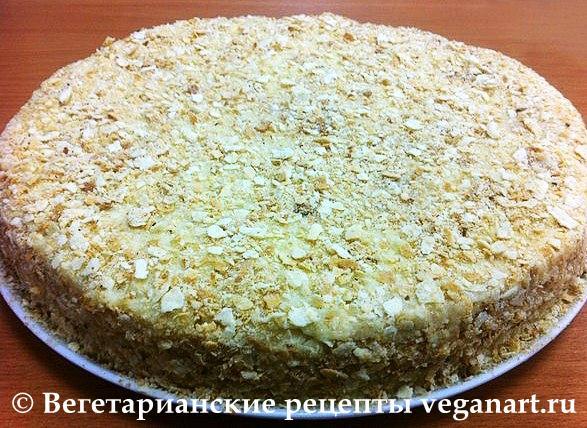 Торт наполеон рецепт без яиц с фото