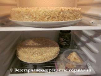Торт в холодильнике