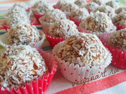 Конфеты из фиников с орехами